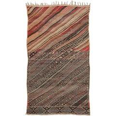 Vintage Moroccan Striped Kilim Rug