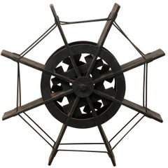 Nautical Early 20th Century Ebonized Jackwood Water Wheel from Kerala, India
