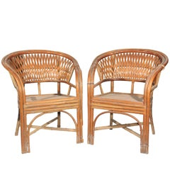 19th Century Pair of Oriental Children Chairs