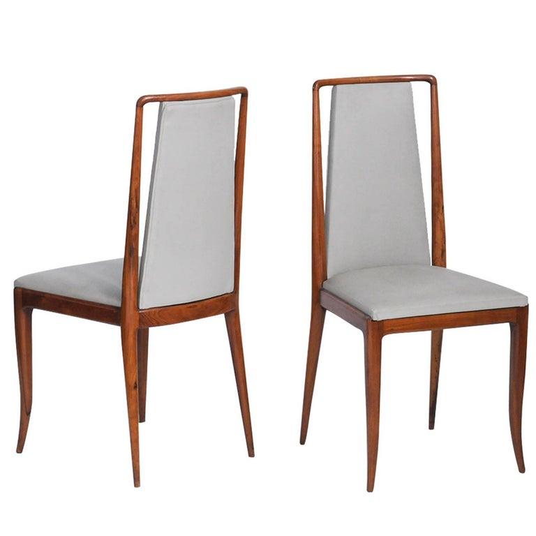 Giuseppe Scapinelli Midcentury brazilian Chair in Caviuna, 1950s For Sale