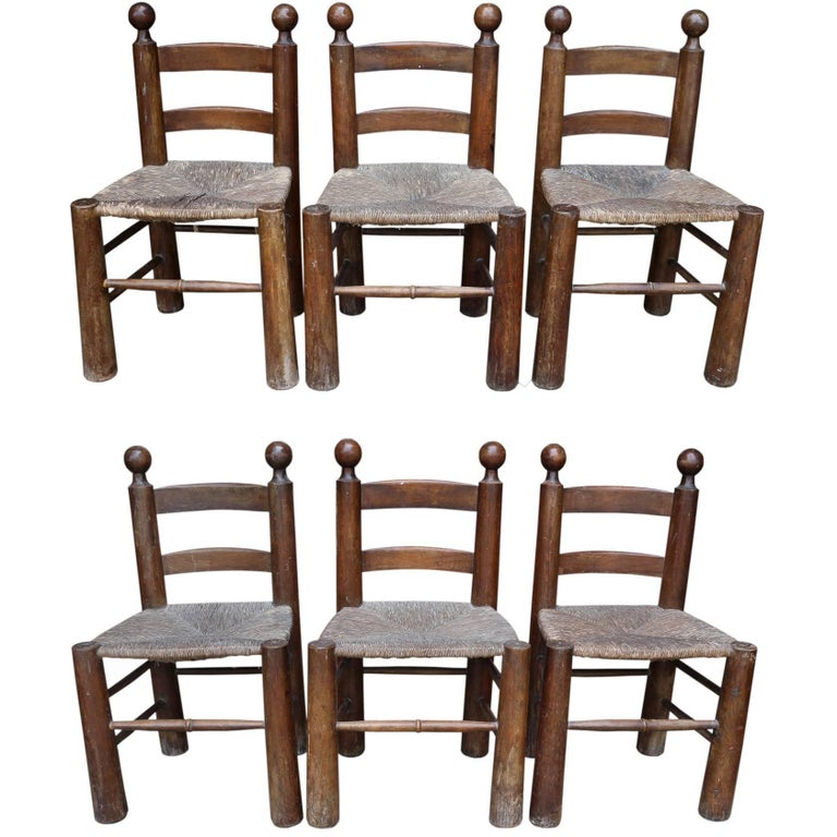 Six Rustic Chairs