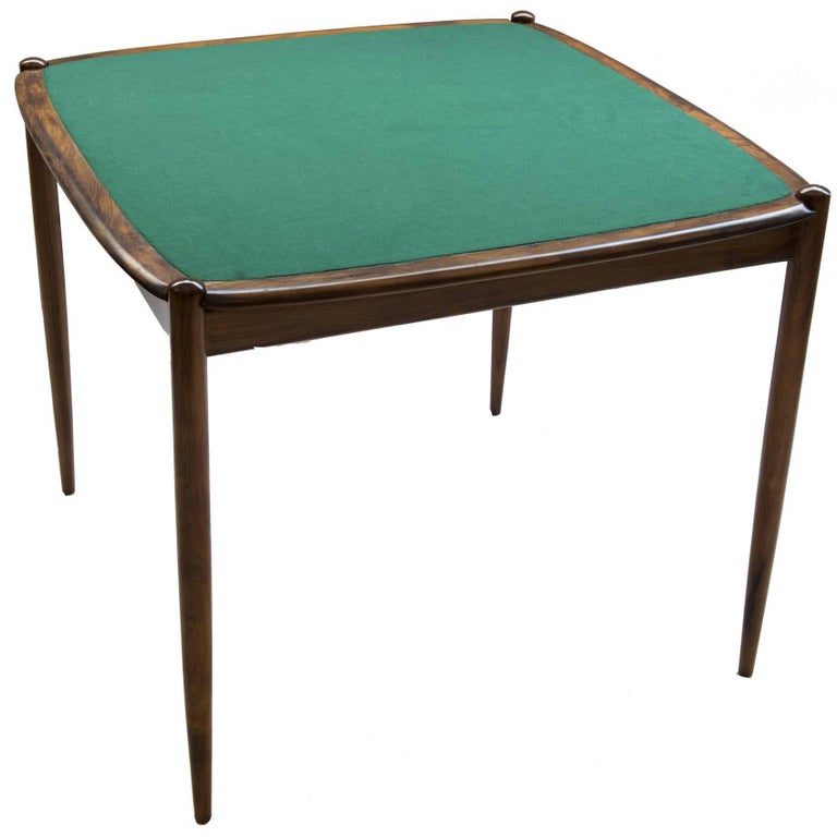 Midcentury Brazilian Gaming Table in Rosewood by Forma