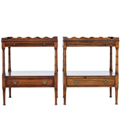 Pair of Mahogany Bedside Tables with Slides
