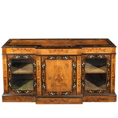 Mid-19th Century Kingwood Breakfront Side Cabinet with Beautiful Marquetry Decor
