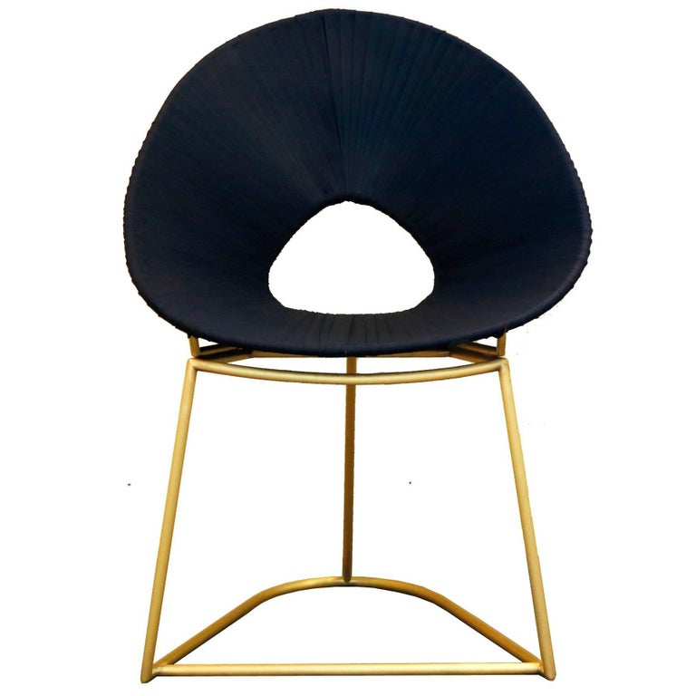 Cacique Chair, Brass Limited Edition - Contemporary Outdoor Furniture Design For Sale