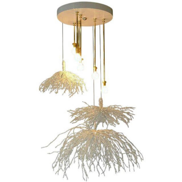 Paul Marra Sage Pendant or Chandelier For Sale