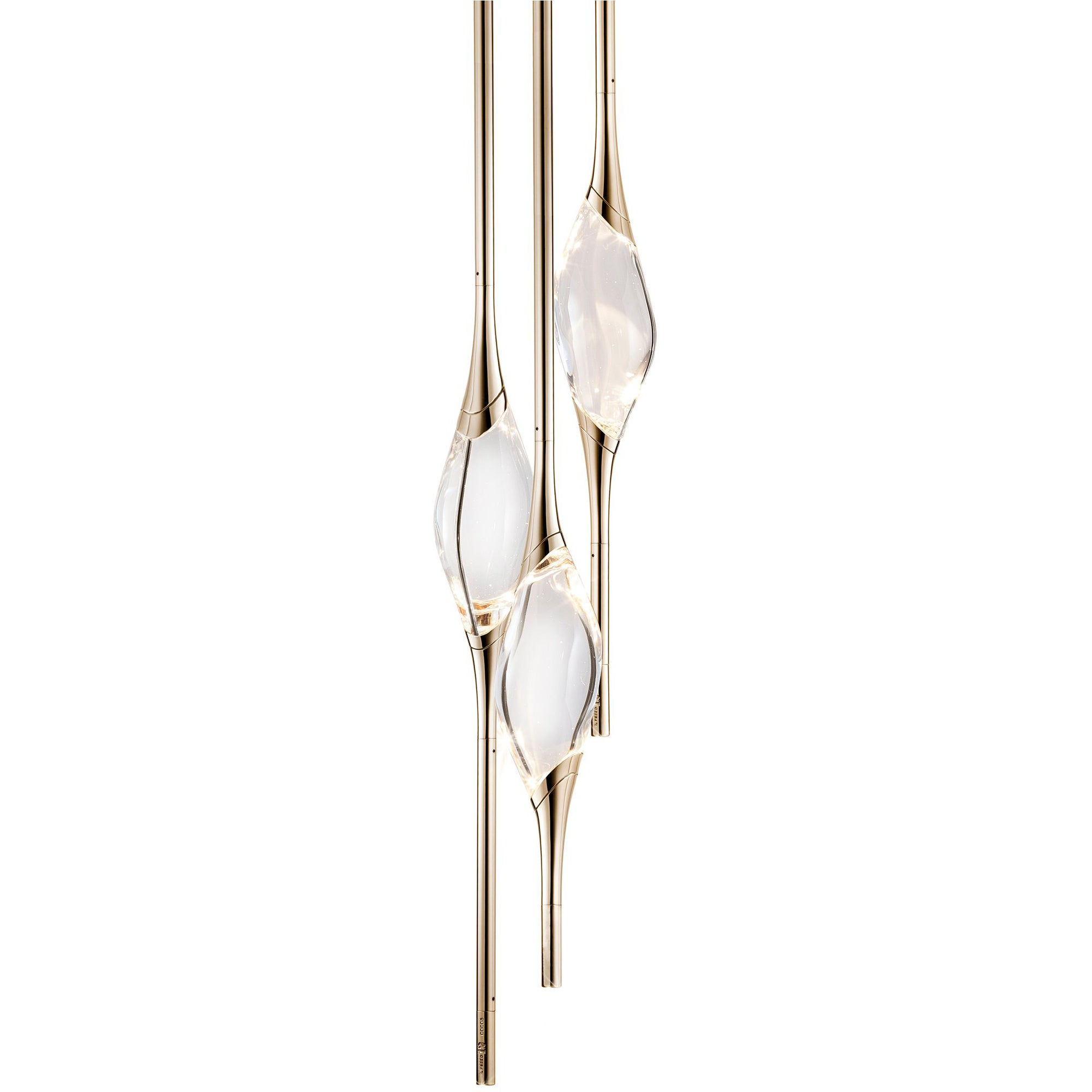 """""""Il Pezzo 12 Round Chandelier"""" LED Lamp in Gold and Crystal"""