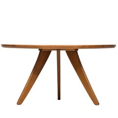 Rare Coffee Table Designed by Carl Malmsten Produced by Svensk Fur in Sweden