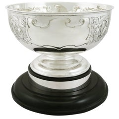 Antique Edwardian Sterling Silver Presentation Bowl by James Deakin & Sons