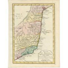 Antique Map of the Brazilian Coast by A. Van Krevelt