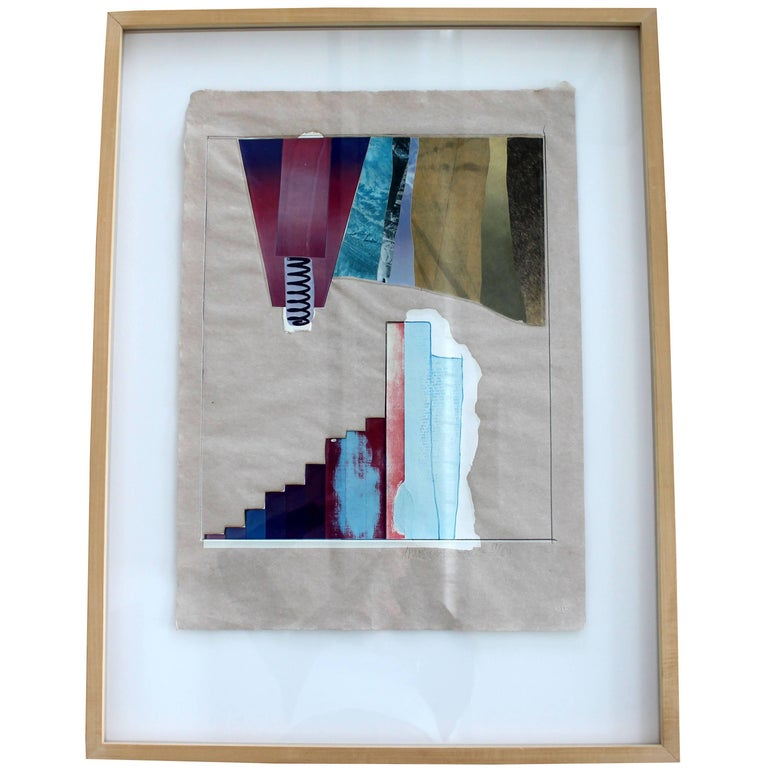 Mid-Century Modern Rauschenberg Signed Abstract Print Dated 1970s Numbered
