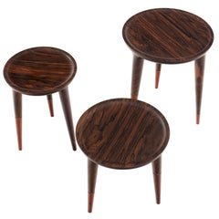 Chamak Ziricote, Mexican Ebony Tropical Wood Side Tables Set