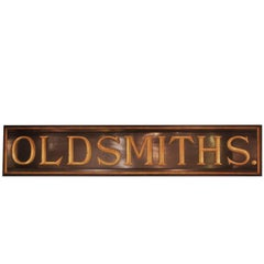 Hand-Carved Painted and Gilt Trade Sign, circa 1880-1900