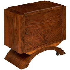 French Art Deco Period Walnut Bar