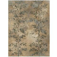 Olive Leaf Gold Wallpaper