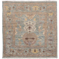 Gorgeously Designed Square Sultanabad Rug