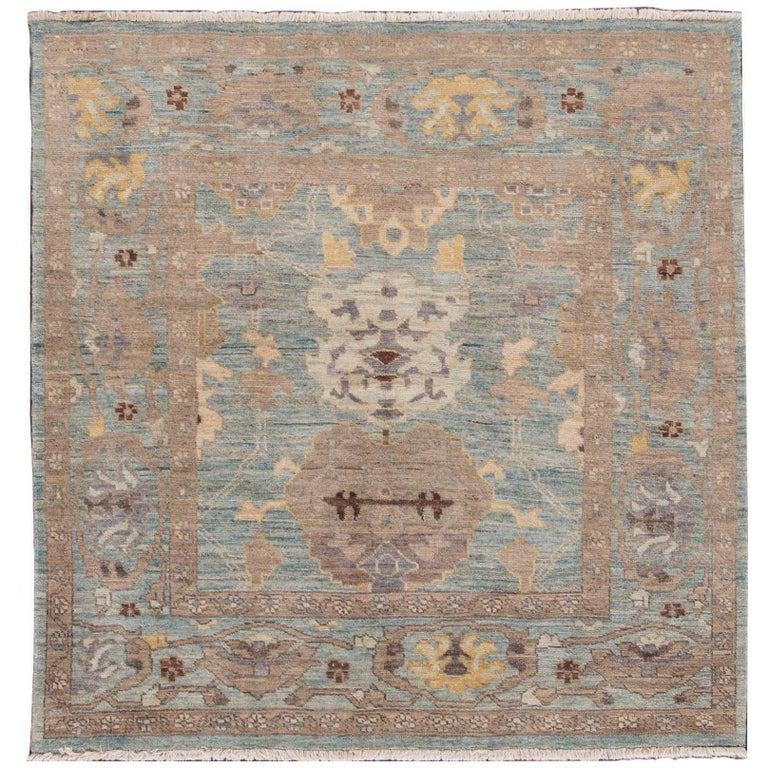 Gorgeously Designed Square Sultanabad Rug For Sale
