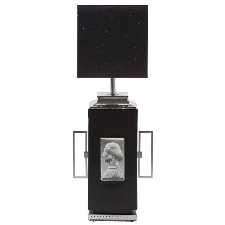 Black Cameo Desk Lamp