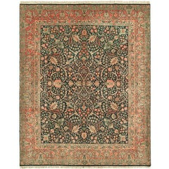 Vintage Sherkat Laver Persian Rug