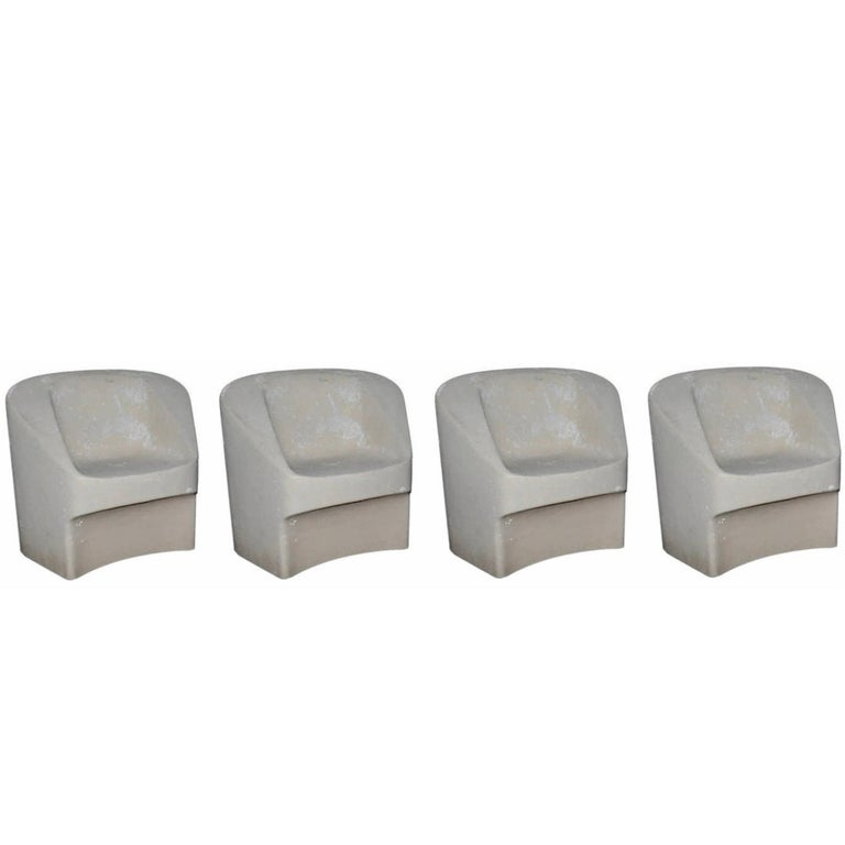 Set of Four Willy Guhl Sculptural Chairs