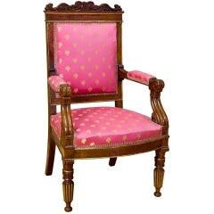 Fine Regency/Classical Gilt-Mounted Armchair, England, circa 1810