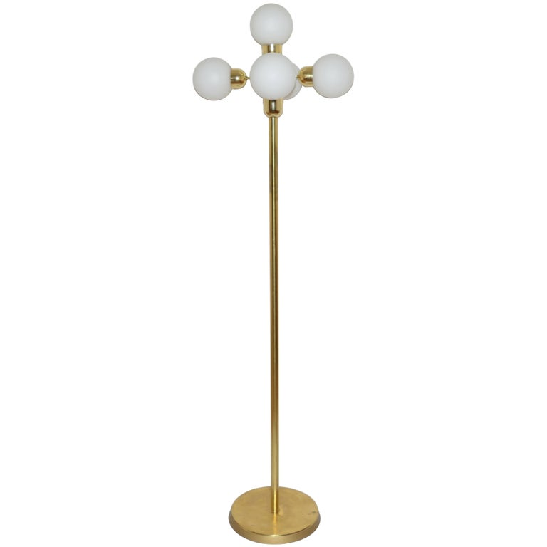 Midcentury Floor Lamp Kamenický Šenov, Czech Republic, 1970s For Sale