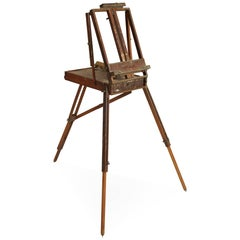 Antique Portable Painter's Box and Easel