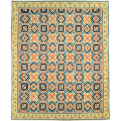 Vintage Indian Dhurrie Flat-Weave Rug