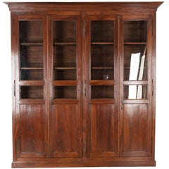 French 19th Century Four Door Walnut Bibliothèque