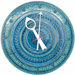 Bitossi Londi 'Rimini Blu' Pattern Clock for Meridian