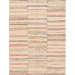 21st Century Multicolored Striped Turkish Kilim Rug