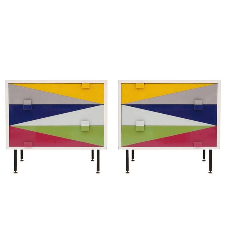 Pair of Italian Nightstands Designed by L.A. Studio