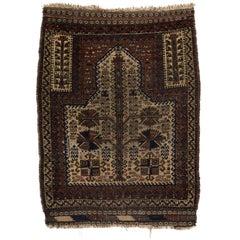 Antique White Ground Baluchi Prayer Rug