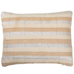 Double Sided African Ashante Pillow with Silver Metallic