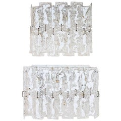 Two sconces by Carlo Nason for Mazzega, Venini Murano, 1960s