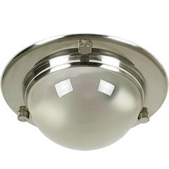 """Chromed and Glass LSP6 """"Tommy"""" Flush/Wall Lamp by Caccia Dominioni for Azucena"""