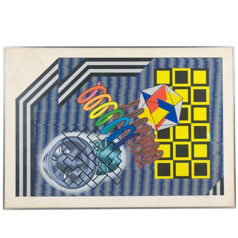 Turbularatio Multiple Poster by Peter Phillips for Jabik & Colophon, 1975