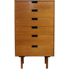 Mid-Century Modern Milo Baughman for Arch Gordon Highboy Dresser 1950s 6 Drawer