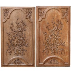 Pair of Early 19th Century Carved Oak Wall Panels