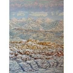 "Daniel Kendrick Impasto Oil Painting ""Big Bend"" Texas Artist"