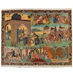 20th Century, Isfahan Tabriz Rug