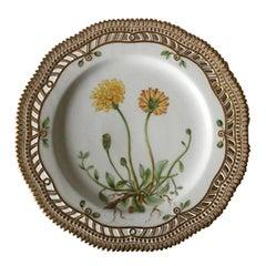Royal Copenhagen Flora Danica Luncheon Plate with Pierced Border No. 20/3554