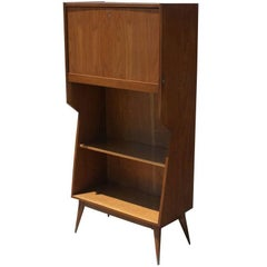 Danish Modern Walnut Secretary Desk