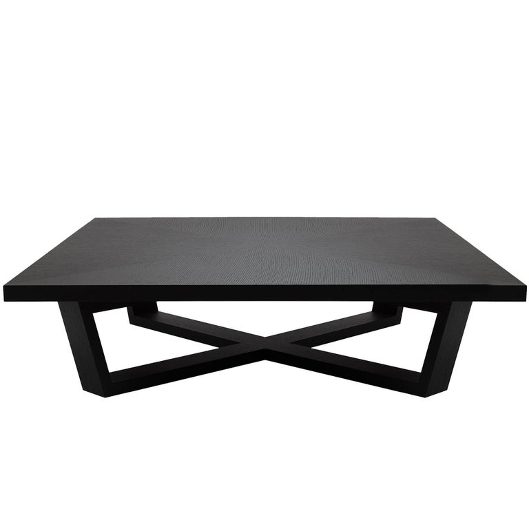 Brushed Black Oak Coffee Table At 1stdibs