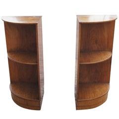 Pair of Vintage Art Deco Style Corner Shelves