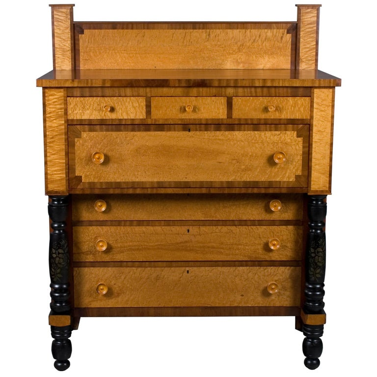Bird's Eye Maple Large Chest of Drawers