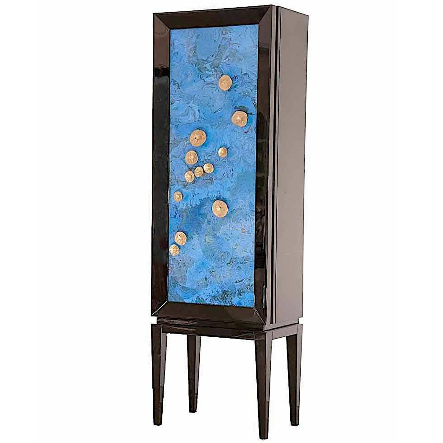Contemporary Beelzebub Bar Cabinet in Copper Extruded Marquetry ...