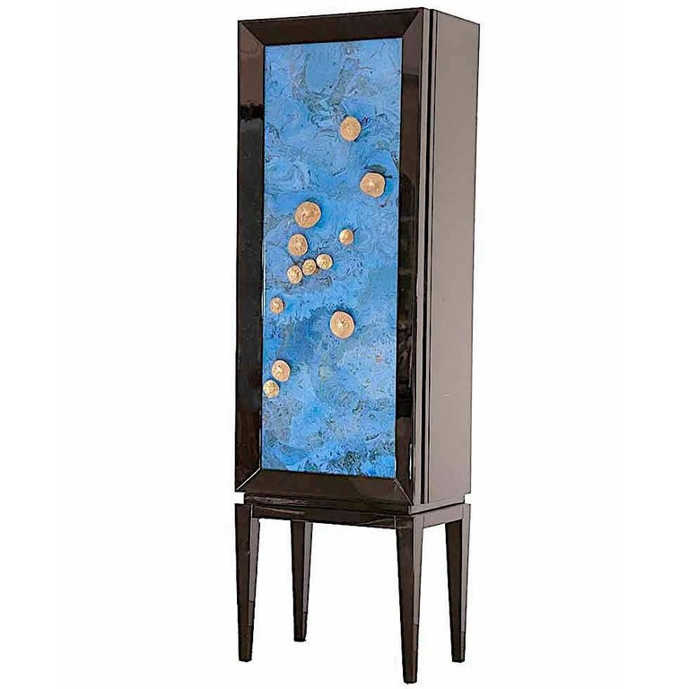 Cabinet Bar  in solid lacquered wood, Modèle Zodiac by Kèrp
