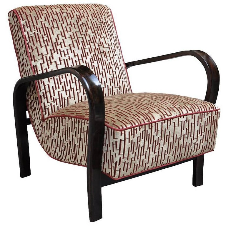 Art Deco Lounge Chair For Sale