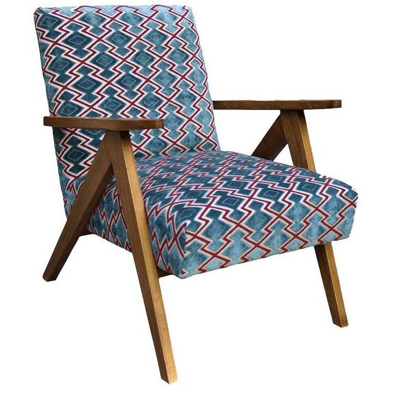 Wow Small Armchair in Velvet Bouclé